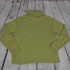 (4/20)Vintage SKYR Green 100% Cotton Turtle Neck M